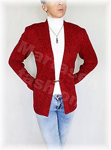 Svetre/Pulóvre - Kabátek kovové zapínání-svetrovina(více barev) - 10146834_