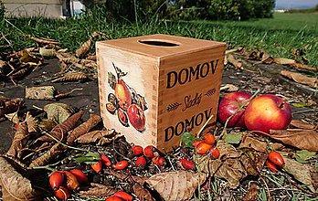 """Krabičky - Box na vreckovky """"Sladký domov"""" - 10147526_"""