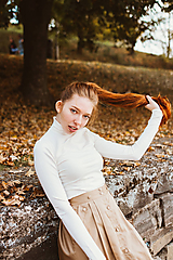 Tričká - Rolák Bamboo Luisa s dl. rukávem smetanový - 10142917_