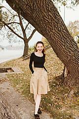 Sukne - Sukně Zora s traky a gombiky béžová - 10142996_