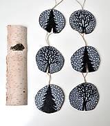 - Drevené ozdoby na stromček-Zimné stromy - 10144611_