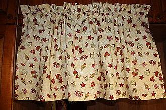 Úžitkový textil - krátka vianočná záclonka - 10145198_
