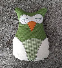 Úžitkový textil - Bavlnený vankúšik  - Ako sova húkala - 10145400_