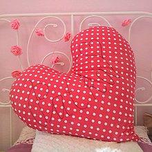 Textil - Bavlnený vankúšik - Srdce pre Paťku - 10145601_
