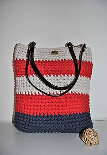 Kabelky - LanaBag modro-červeno-natur - 10145718_