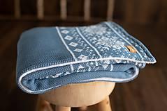 """Textil - Detská deka,""""Nórsky vzor"""", OEKO-TEX® - Modro-Biela(Denim) - 10145378_"""