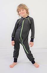 Detské oblečenie - Rastúci overal - merino vlna - 93-104cm (2-4roky) - 10142860_