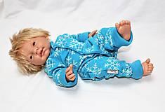 Detské oblečenie - Rastúci overal - merino vlna - 0 - 6 mesiacov (50 - 68 cm) - 10142871_
