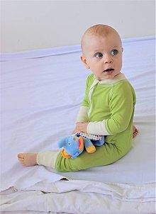 Detské oblečenie - Rastúci overal - merino vlna - 75-92cm (9-24m) - 10142854_