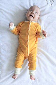 Detské oblečenie - Rastúci overal - merino vlna - 63-80cm (4-12m) - 10142865_