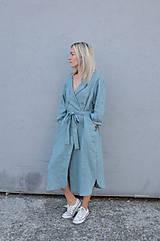 Šaty - Šaty/cardigan MARINA dymovo zelené - 10143183_