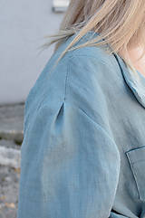 Šaty - Šaty/cardigan MARINA dymovo zelené - 10143184_