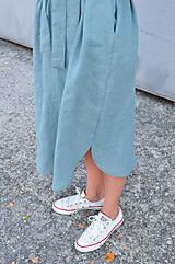Šaty - Šaty/cardigan MARINA dymovo zelené - 10143186_