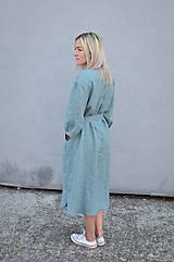 Šaty - Šaty/cardigan MARINA dymovo zelené - 10143187_