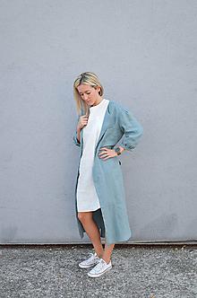 Šaty - Šaty/cardigan MARINA dymovo zelené - 10143185_