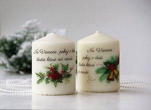 Svietidlá a sviečky - Duo vianočných dekoračných sviečkok - 10145951_