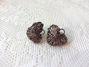 Materiál ručne robený - Romantické srdiečka z drôtu - pár - 10147228_