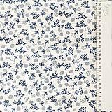 Textil - modrotlačové kvety, 100 % bavlna, šírka 140 cm - 10143091_