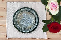 Nádoby - Set 3 tanierov - plytký, hlboký a dezertný - baroková kolekcia - 10144188_