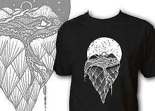 Oblečenie - Pánske tričko čierne - Fantázia - 10145633_