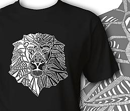 Oblečenie - Pánske tričko čierne - Lev - 10145741_