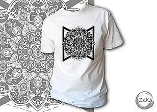 Oblečenie - Pánske tričko - Mandala - 10146151_