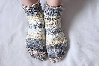 Obuv - Ponožky žlté - 10145702_