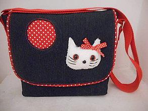 Kabelky - kabelka s mačičkou - 10143766_