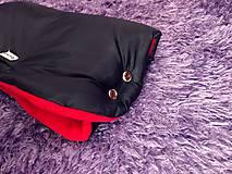Rukavice - Rukávnik na kočík  (čierna + Červená) - 10147990_