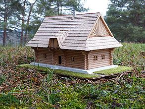 Dekorácie - Slovenská drevenica - drevený domček - miniatúra - 10147796_