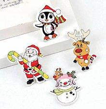 Galantéria - G133 Mix vianočných gombíčkov - 10146854_