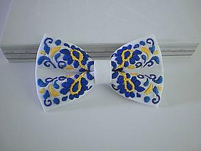 Doplnky - Motýlik Považie modro-žltý - 10146064_
