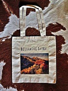 Nákupné tašky - Bavnlená taška Belianske Tatry - 10145082_