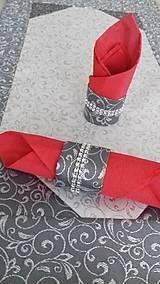 Úžitkový textil - Krúžok na obrúsky - 10145473_