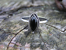 Prstene - Strieborny prsteň Ag 925 Ónyx - 10145190_