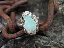 Prstene - Strieborny prsteň Ag 925 Etiopsky Opál - 10145388_