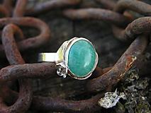 Prstene - Strieborny prsteň Ag925 Amazonit - 10145419_