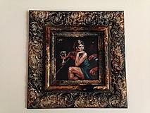 Obrazy - dáma s vínom - 10147638_