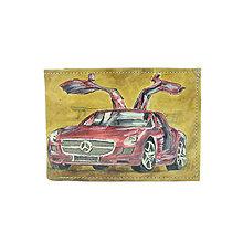 Tašky - Ručne maľovaná peňaženka s motívom Mercedes - 10146044_