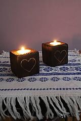 Svietidlá a sviečky - Svietnik srdiečko - 10145075_