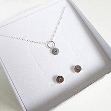 Sady šperkov - Sketch_One :-) 6mm (SET Náušničky+Prívesok (bez retiazky)) - 10145772_