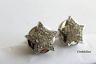 Šperky - Manžetové gombíky Snap Buttons (Snap Buttons Star) - 10147229_