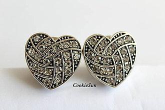 Šperky - Manžetové gombíky Snap Buttons (Snap Buttons Heart) - 10147230_