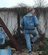 Batohy - Batoh / taška z recyklovaných riflí - pre mládež :) - 10143959_