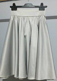 Sukne - strieborná kruhová sukňa - 10147059_