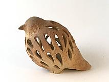 Dekorácie - Keramický vtáčik prerezávaný - 10146941_