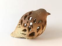 Dekorácie - Keramický vtáčik prerezávaný - 10146942_