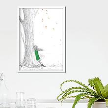 Kresby - Autumn, akvarel, kresba - 10143374_