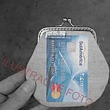 Peňaženky - Peňaženka Vtáčiky na šedej - M - 10143014_
