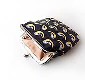 Peňaženky - Peňaženka Vtáčiky na šedej - M - 10143016_